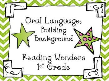 Oral Language Building Background for Reading Wonders 1st grade