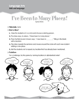 Oral Language: Locations and Books (Ten-Minute Activities)