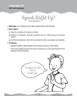 Oral Language: Microphones and Skit Prompts (Ten-Minute Activities)