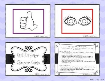 Oral Language: Observer Cards