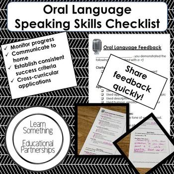 Oral Language Speaking Skills Checklist