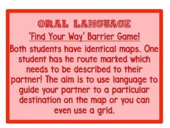 Oral Language Task Cards