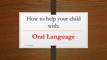 Oral Language help tips for parents