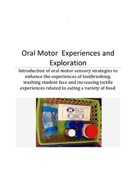 Oral Motor Activities/Special Education students