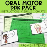 Oral Motor DDK Rates Pack for Speech Therapy