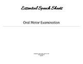 Oral Motor Exam
