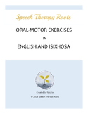 Oral-Motor Exercises in English and isiXhosa