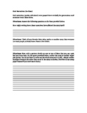 Oral Narratives Introduction Activity Worksheet