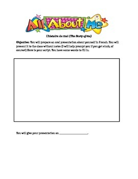 Oral Presentation Activity for Elementary French