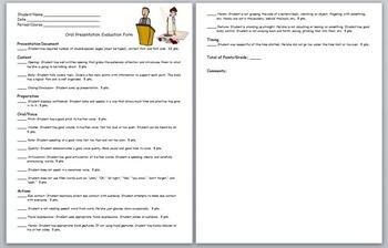 Oral Presentation Assignment (Fun Graduation Speech) w/ Detailed Evaluation Form