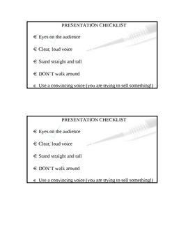 Oral Presentation Checklist
