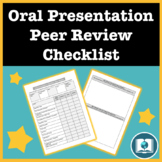 Oral Presentation Checklist Peer Review Form: Use in Any Class!