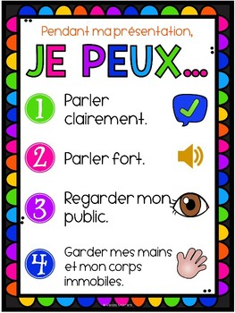 Oral Presentation Poster | English and French