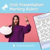 Oral Presentation Rubric and bonus Quick Marking Template | Printable Digital