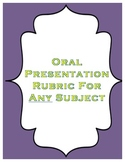 Oral Presentation Rubric for Any Subject