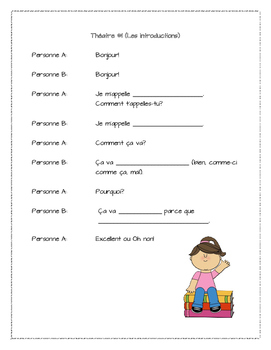 Oral Presentation Skits. In French!