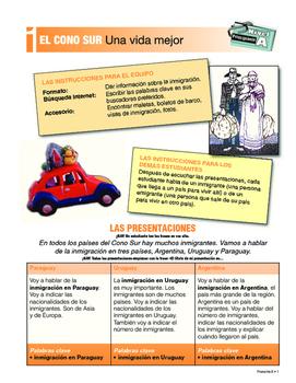 ORAL Presentations - SOUTHERN CONE: immigration, tango, Atacama Desert +++
