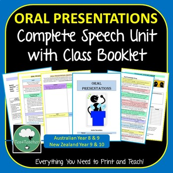 Oral Presentations Speech Complete Unit for Junior Secondary– Print and Hand Out