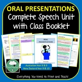 Oral Presentations Complete Speech Unit for Lower High School