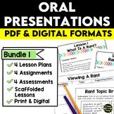 Oral Presentations Bundle | Distance Learning