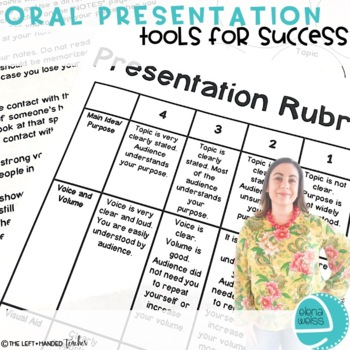 Oral Presentation Rubric and other Tools for Success