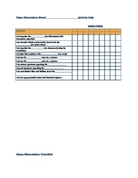 Oral Proficiency Classroom Observation Checklists World Languages & ESL