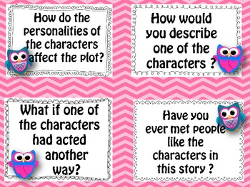 Oral Question Cards with Owls