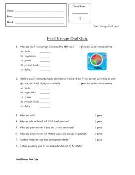 Oral Quiz
