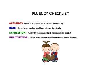 Oral Reading Fluency Checklist