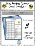 Oral Reading Fluency Goal Sheet