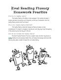 Oral Reading Fluency Practice