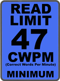 Oral Reading Fluency READ LIMIT 1st Grade Sign COMMON CORE