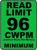 Oral Reading Fluency READ LIMIT 2nd Grade Sign COMMON CORE