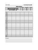 Oral Reading Fluency Tracker - 1st Grade