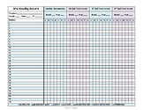 Oral Reading Record Data Sheet - track your entire class for a YEAR on ONE page!