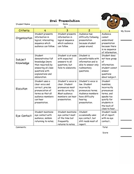 Oral Report Rubric