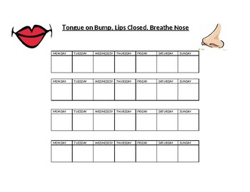 Oral Resting Posture Chart