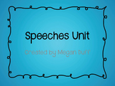 Oral Speeches Unit and Student Booklet