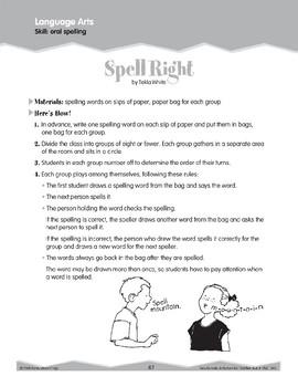 Oral Spelling (Ten-Minute Activities)