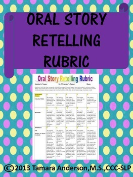 Oral Story Retelling Rubric