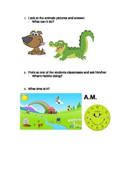 Oral quiz for ESL learners.