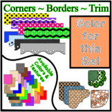 Orange Pastel Borders Trim Corners *Create Your Own Dream Classroom/Daycare*
