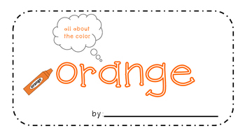 Orange Activity Book!