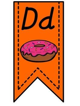 Orange Alphabet Banner
