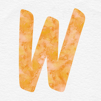 Orange Alphabet, Digital Letters, Brush Digital Alphabet Clip Art