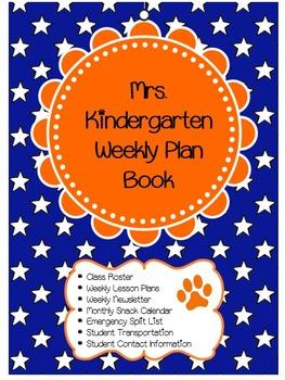Orange And Blue Teacher Binder Cover