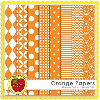 Orange Basic Digital Papers