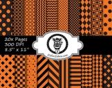 Orange Black Multi pattern paper pack - commercial use ok.