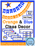Orange & Blue Class Decor Pack