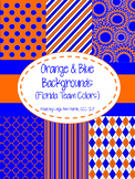 Orange & Blue Digital Papers (University of Florida Team Colors)